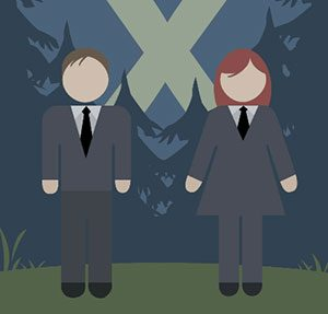 Mulder and Scully Icomania Level 11