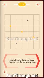 Pythagorea Walkthrough 1 Length and Distance Level 18