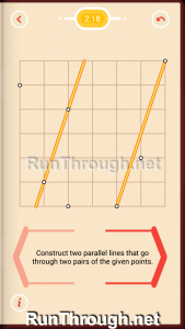 Pythagorea Walkthrough 2 Parallels Level 18