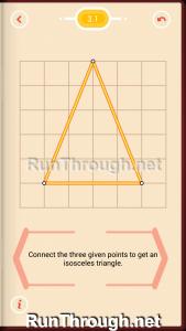 Pythagorea Walkthrough 3 Isosceles Triangles Level 1