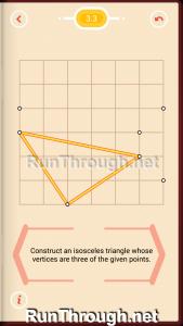 Pythagorea Walkthrough 3 Isosceles Triangles Level 3