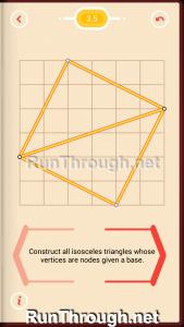 Pythagorea Walkthrough 3 Isosceles Triangles Level 5