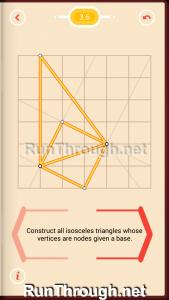 Pythagorea Walkthrough 3 Isosceles Triangles Level 6
