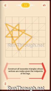 Pythagorea Walkthrough 3 Isosceles Triangles Level 9