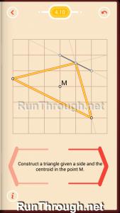 Pythagorea Walkthrough 4 Medians and Midsegments Level 10