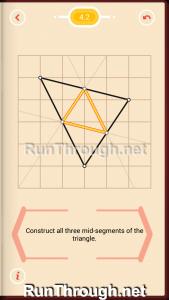 Pythagorea Walkthrough 4 Medians and Midsegments Level 2