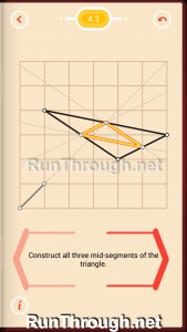 Pythagorea Walkthrough 4 Medians and Midsegments Level 3