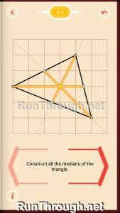 Pythagorea Walkthrough 4 Medians and Midsegments Level 5