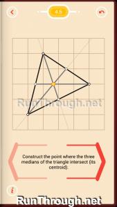 Pythagorea Walkthrough 4 Medians and Midsegments Level 6
