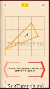 Pythagorea Walkthrough 4 Medians and Midsegments Level 9