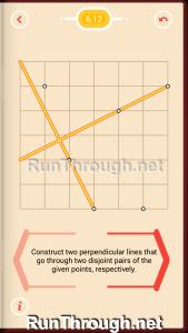 Pythagorea Walkthrough 6 Perpendiculars Level 12