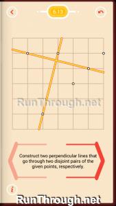 Pythagorea Walkthrough 6 Perpendiculars Level 13
