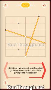 Pythagorea Walkthrough 6 Perpendiculars Level 16