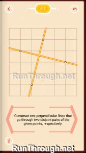 Pythagorea Walkthrough 6 Perpendiculars Level 7