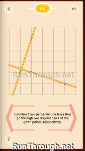 Pythagorea Walkthrough 6 Perpendiculars Level 8