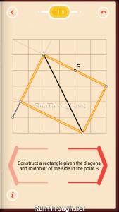 Pythagorea Walkthrough 11 Rectangles Level 8