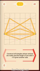 Pythagorea Walkthrough 13 Pythagorean-Theorem Level 5