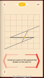 Pythagorea Walkthrough 14 Length-and-Proportions Level 1