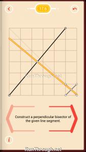 Pythagorea Walkthrough 17 Perpendicular-Bisectors Level 6
