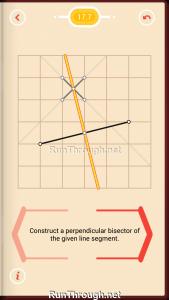 Pythagorea Walkthrough 17 Perpendicular-Bisectors Level 7