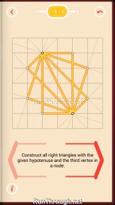 Pythagorea Walkthrough 19 Right-Triangles Level 14