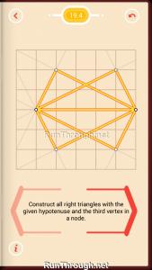 Pythagorea Walkthrough 19 Right-Triangles Level 4