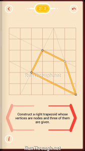 Pythagorea Walkthrough 21 Right-Trapezoids Level 2