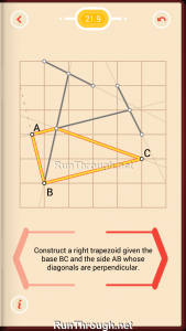 Pythagorea Walkthrough 21 Right-Trapezoids Level 9