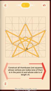 Pythagorea Walkthrough 22 Rhombuses Level 11