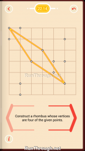 Pythagorea Walkthrough 22 Rhombuses Level 14