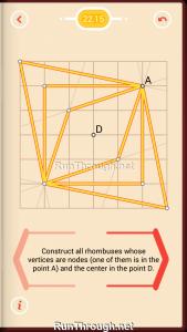 Pythagorea Walkthrough 22 Rhombuses Level 15