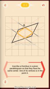 Pythagorea Walkthrough 22 Rhombuses Level 9