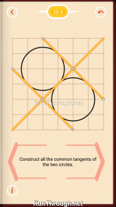 Pythagorea Walkthrough 25 Tangents Level 3