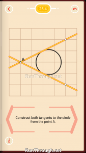 Pythagorea Walkthrough 25 Tangents Level 4
