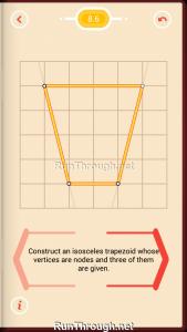 Pythagorea Walkthrough 8 Trapezoids Level 6
