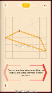 Pythagorea Walkthrough 8 Trapezoids Level 7