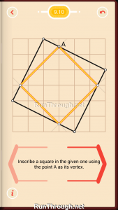 Pythagorea Walkthrough 9 Squares Level 10