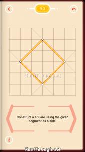 Pythagorea Walkthrough 9 Squares Level 3